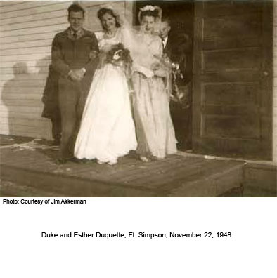 Duke and Esther Duquette Wedding