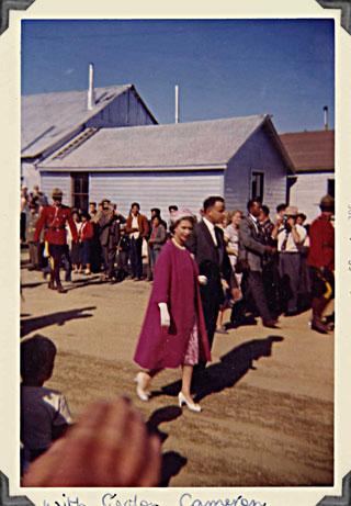Queen Elizabeth in Whitehorse 1959