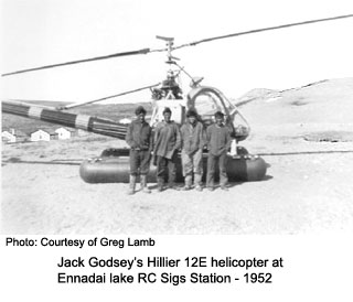 Helicopter at Ennadai Lake 1952